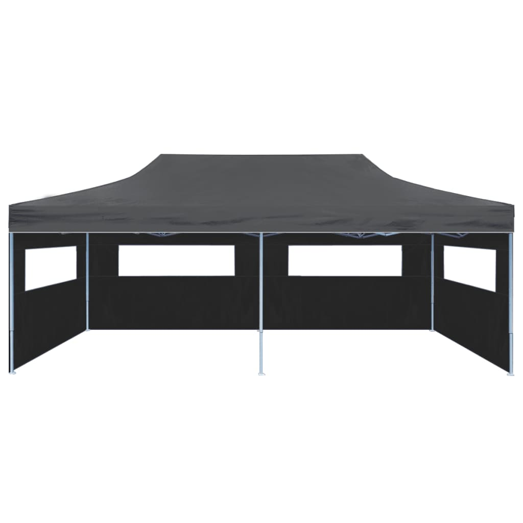 vidaXL Vouwtent pop-up met zijwanden 3x6 m antraciet