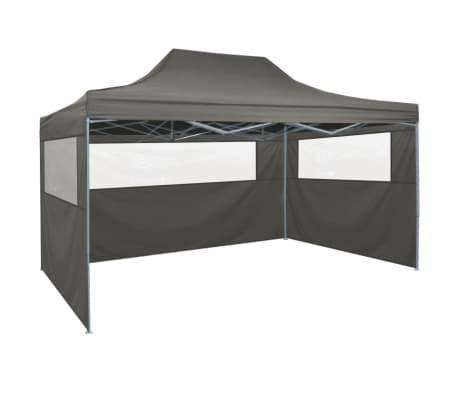vidaXL Carpa pleglable Pop-up con 4 paredes 3x4,5 m gris antracita[4/11]