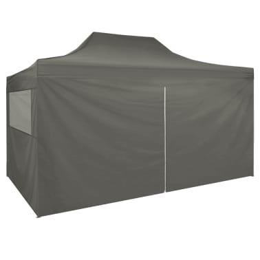 vidaXL Carpa pleglable Pop-up con 4 paredes 3x4,5 m gris antracita[3/11]