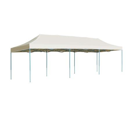 vidaXL Zložljiv pop-up šotor za zabave 3x9 m krem