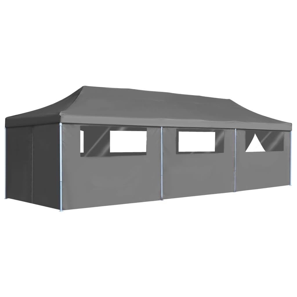 vidaXL Vouwtent pop-up met 8 zijwanden 3x9 m antraciet