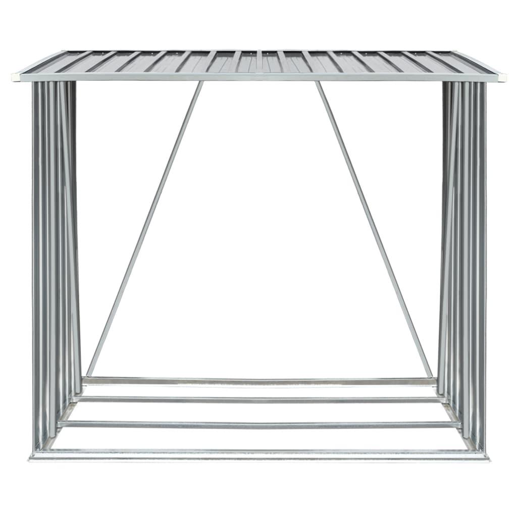 9944959 Brennholzlager Verzinkter Stahl 163 x 83 x 154 cm Grau