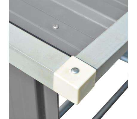 vidaXL Brennholzlager Verzinkter Stahl 163 x 83 x 154 cm Grau[6/7]