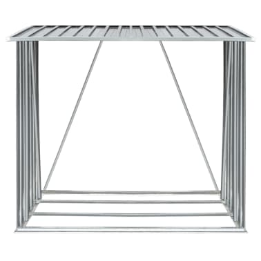 vidaXL Brennholzlager Verzinkter Stahl 163 x 83 x 154 cm Grau[3/7]