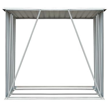 vidaXL Brennholzlager Verzinkter Stahl 163 x 83 x 154 cm Grau[4/7]