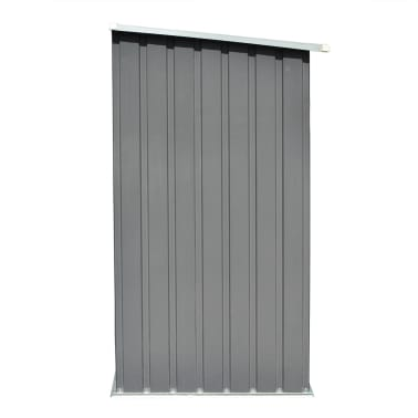 vidaXL Brennholzlager Verzinkter Stahl 163 x 83 x 154 cm Grau[5/7]