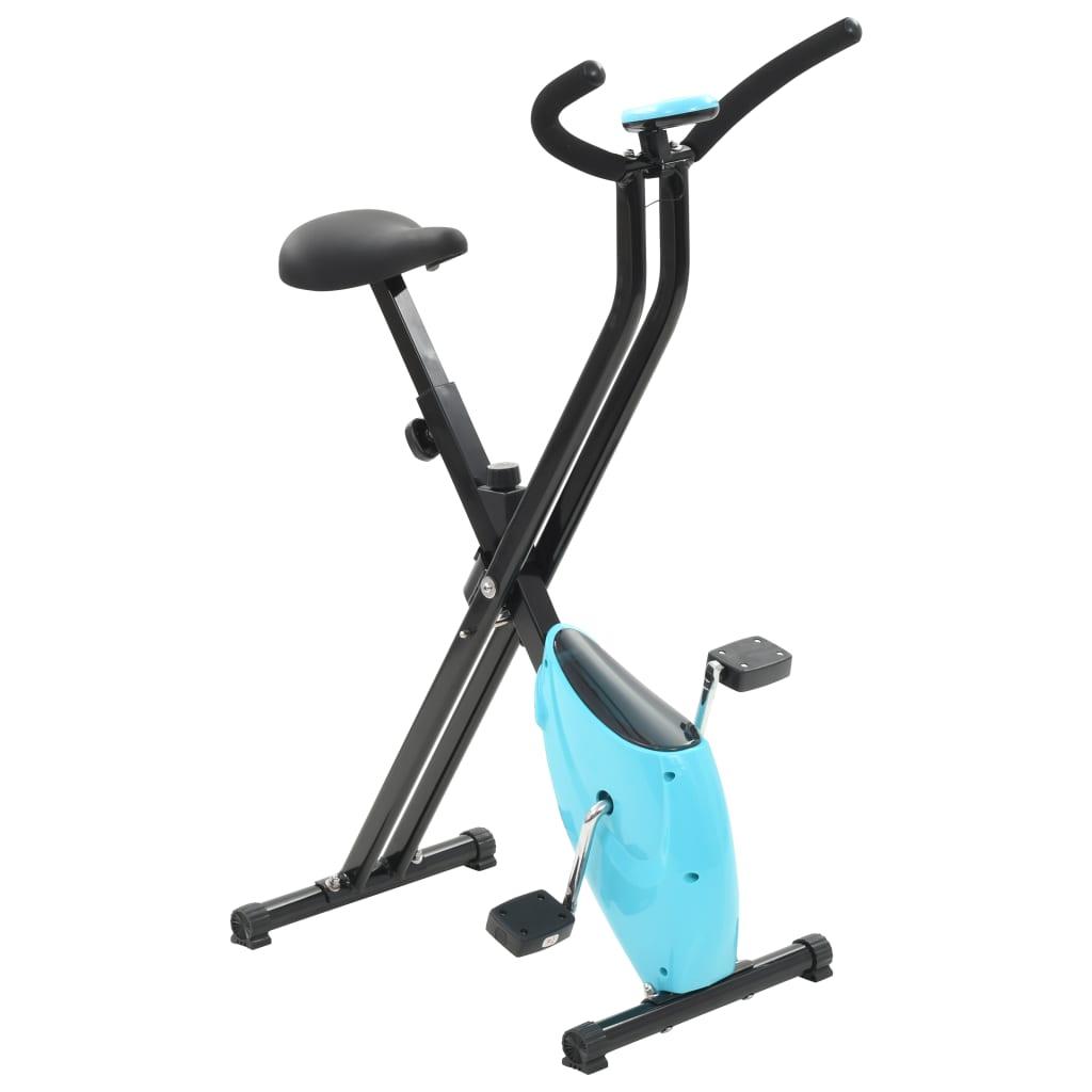 vidaXL Bicicletă fitness X-Bike cu curea de rezistență, albastru vidaxl.ro