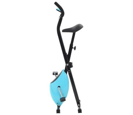vidaXL Hometrainer X-bike bandweerstand blauw[2/11]