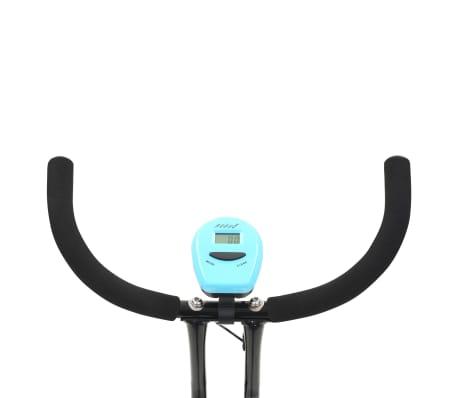 vidaXL Hometrainer X-bike bandweerstand blauw[11/11]