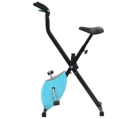 vidaXL Hometrainer X-bike bandweerstand blauw[4/11]