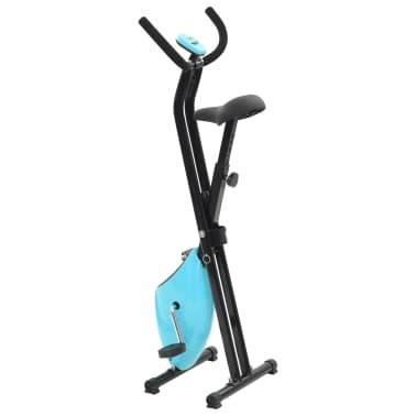 vidaXL Hometrainer X-bike bandweerstand blauw[3/11]