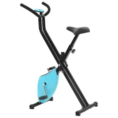 vidaXL Hometrainer X-bike bandweerstand blauw[5/11]