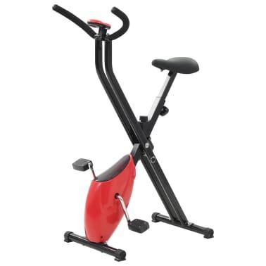 vidaXL Bicicletă fitness X-Bike cu curea de rezistență, roșu[1/10]