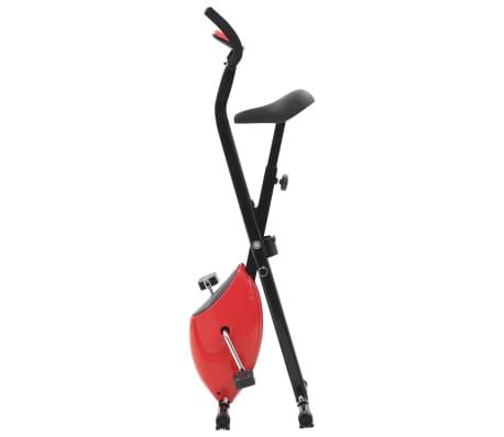vidaXL Bicicletă fitness X-Bike cu curea de rezistență, roșu[2/10]