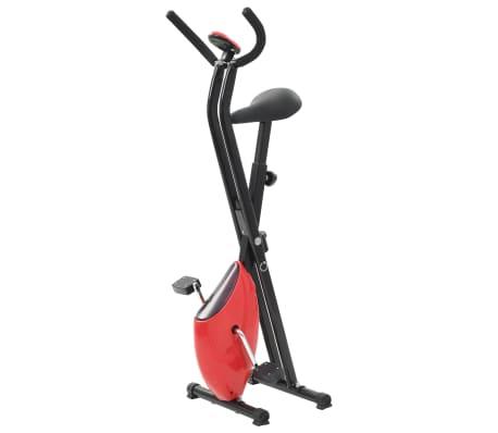 vidaXL Bicicletă fitness X-Bike cu curea de rezistență, roșu[3/10]