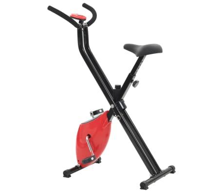 vidaXL Bicicletă fitness X-Bike cu curea de rezistență, roșu[4/10]