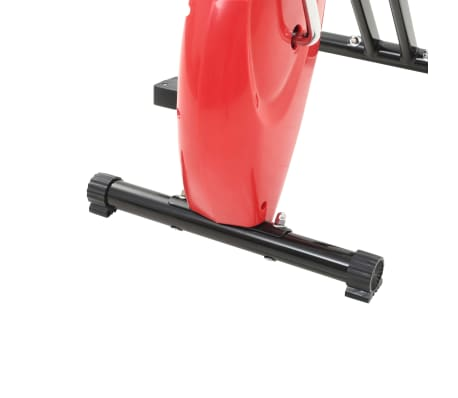 vidaXL Bicicletă fitness X-Bike cu curea de rezistență, roșu[9/10]