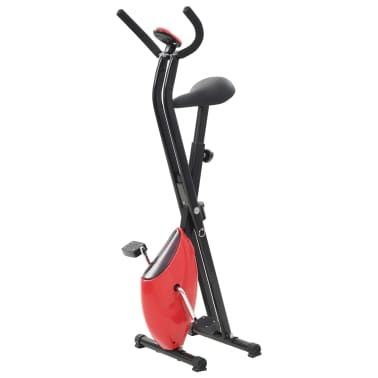 vidaXL Hometrainer X-bike bandweerstand rood[3/10]