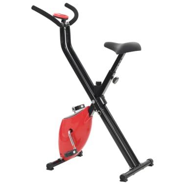 vidaXL Hometrainer X-bike bandweerstand rood[4/10]