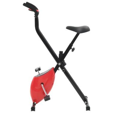 vidaXL Bicicletă fitness X-Bike cu curea de rezistență, roșu[5/10]