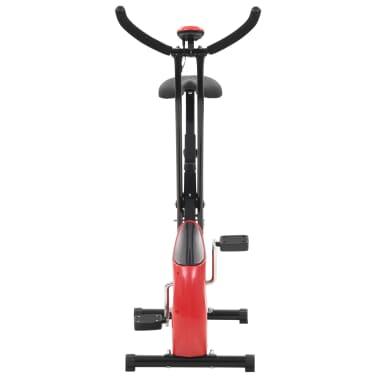 vidaXL Bicicletă fitness X-Bike cu curea de rezistență, roșu[6/10]