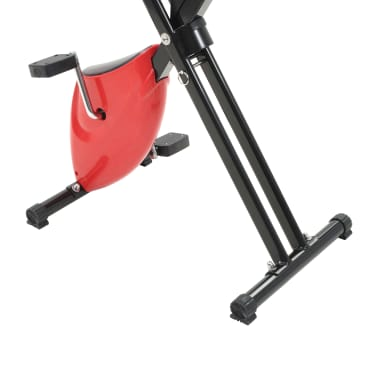 vidaXL Bicicletă fitness X-Bike cu curea de rezistență, roșu[7/10]