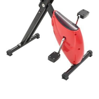 vidaXL Bicicletă fitness X-Bike cu curea de rezistență, roșu[8/10]