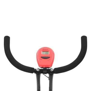 vidaXL Bicicletă fitness X-Bike cu curea de rezistență, roșu[10/10]