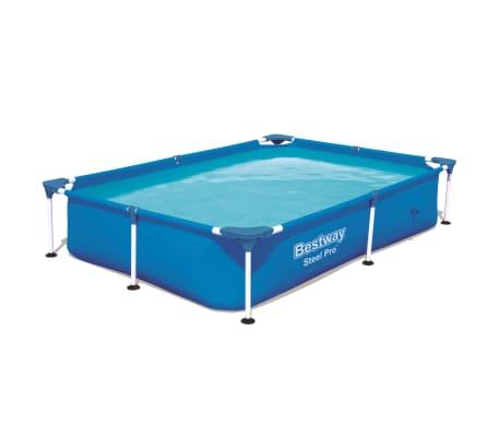 Bestway Steel Pro Swimming Pool mit Stahlrahmen 221x150x43 cm 56401