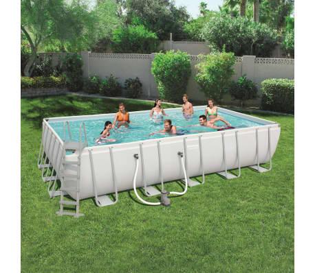 bestway power steel pool set rechteckig 56470 g nstig. Black Bedroom Furniture Sets. Home Design Ideas