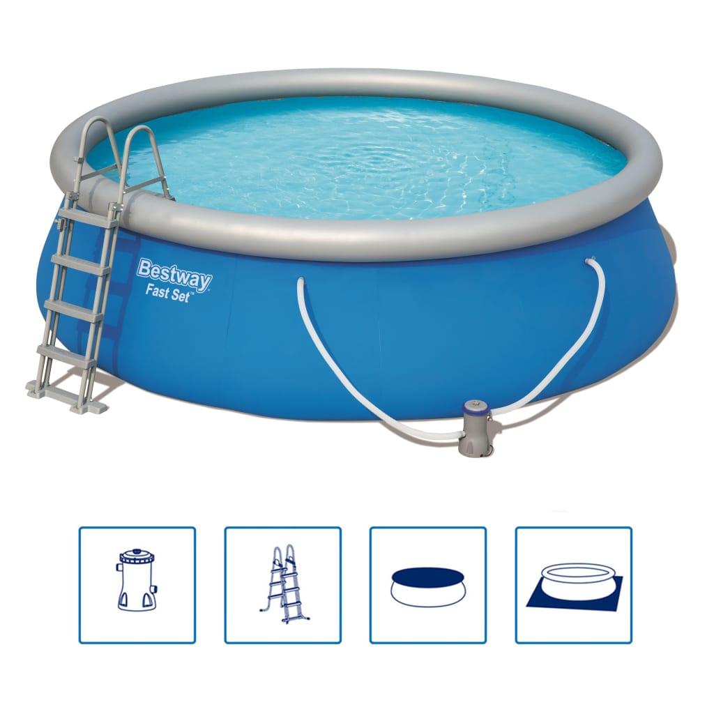 Afbeelding van Bestway Fast Set Zwembadset opblaasbaar rond 457x112 cm 57289