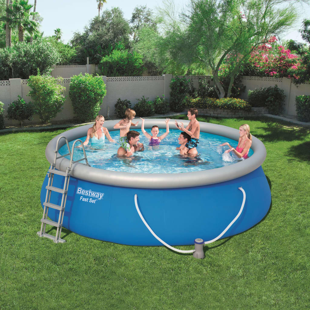 Bestway Set cu piscină gonflabilă Fast Set 457 x 122 cm rotundă 57289 poza vidaxl.ro