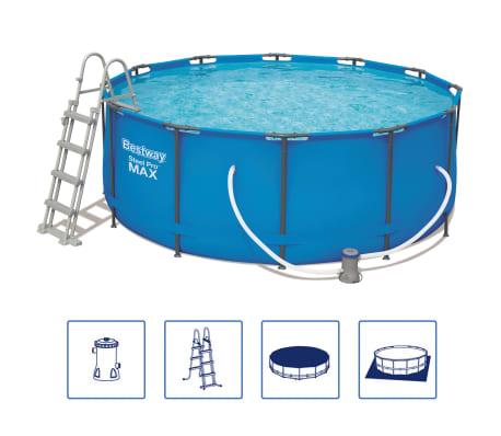 Bestway Ensemble de piscine Steel Pro MAX Rond 366x122 cm 56420