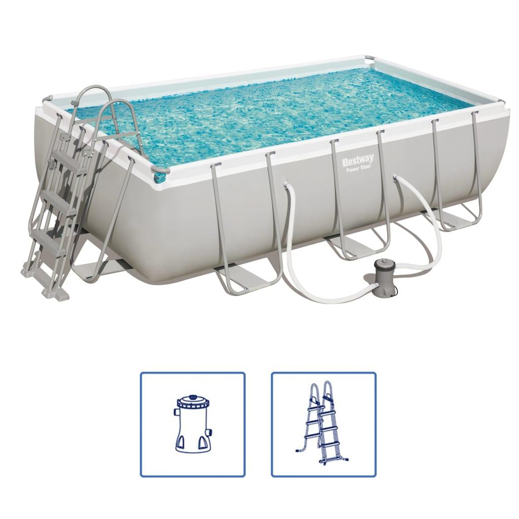 Afbeelding van Bestway Power Steel Zwembadset rechthoekig 56441