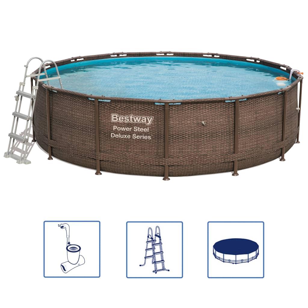 Afbeelding van Bestway Power Steel Deluxe Series Zwembadset rond 56664