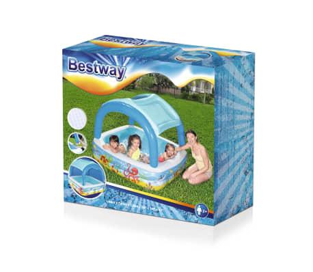 Bestway Canopy Play Pool Blue 140x140x114cm Children Toddler Centre Summer