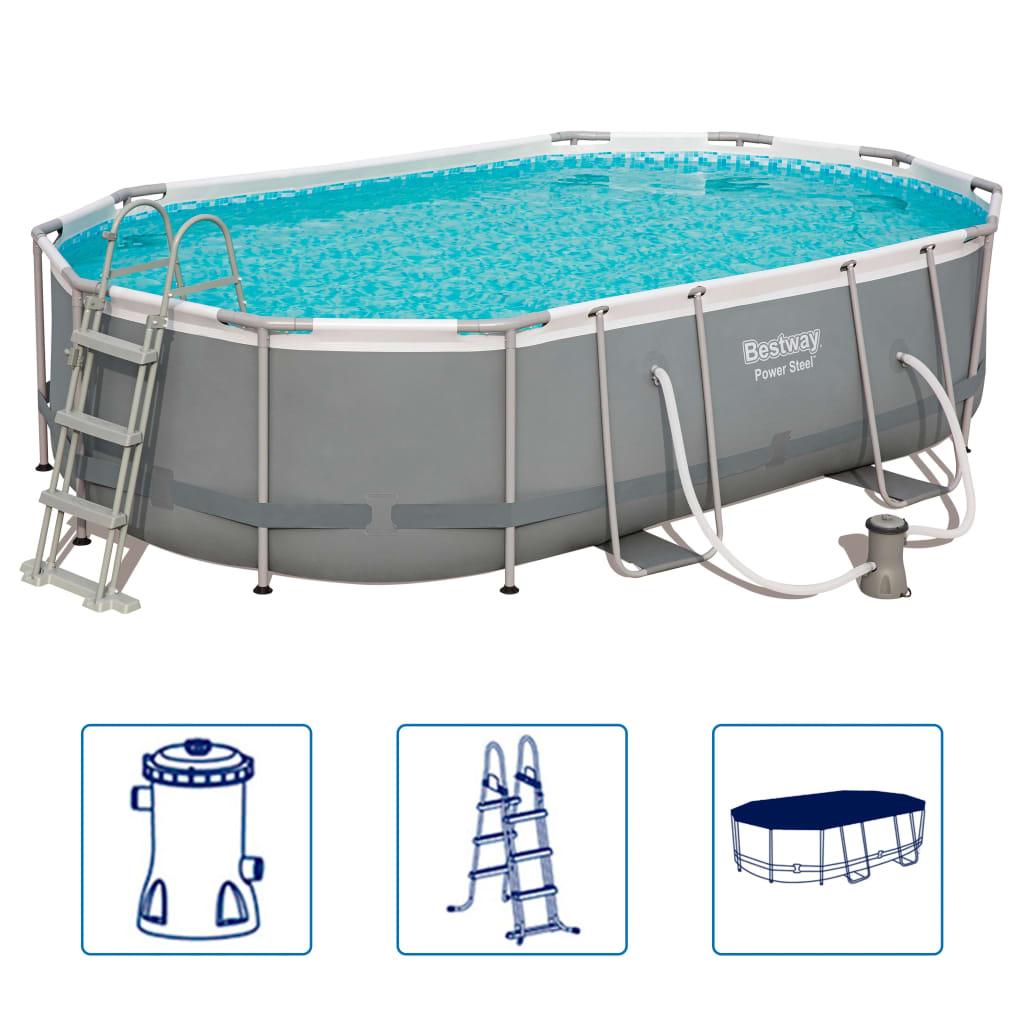 Afbeelding van Bestway Power Steel Zwembadset ovaal 56448