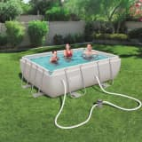 Bestway Jeu de piscine Power Steel Rectangulaire 282x196x84 cm 56629