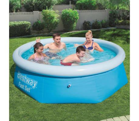 Icke gamla Handla Bestway Pool uppblåsbar Fast Set rund 244x66 cm 57265 KE-87