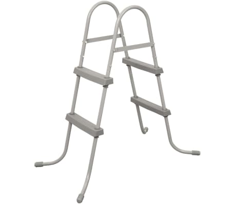 Details about Bestway 2-Step Swimming Pool Ladder Flowclear 84cm Above  Ground Step Stairs