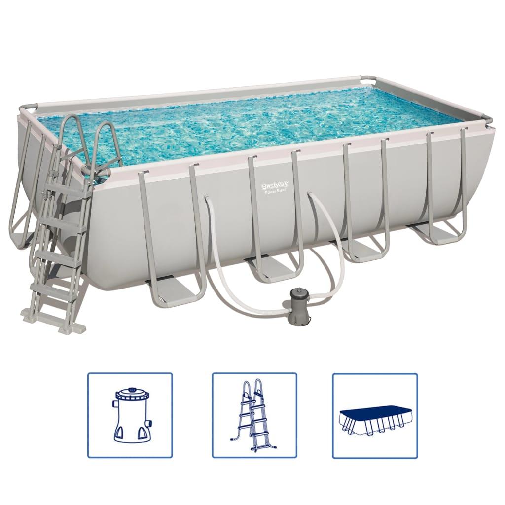 Afbeelding van Bestway Power Steel zwembadset rechthoekig 56670