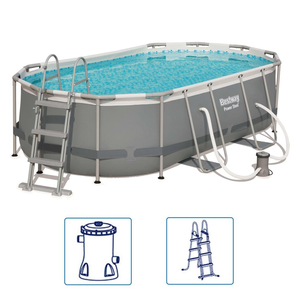 Afbeelding van Bestway Power Steel zwembadset ovaal 56620