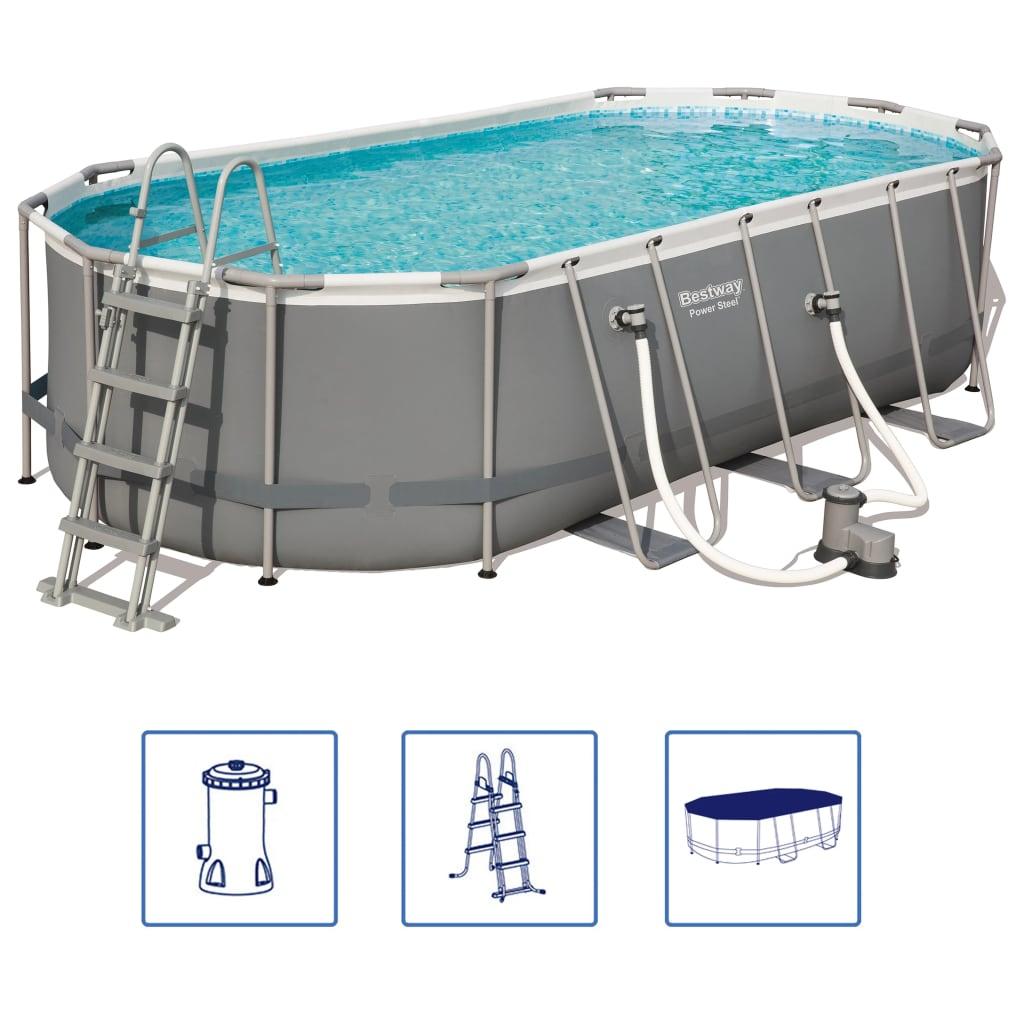 Afbeelding van Bestway Power Steel zwembadset ovaal 56710