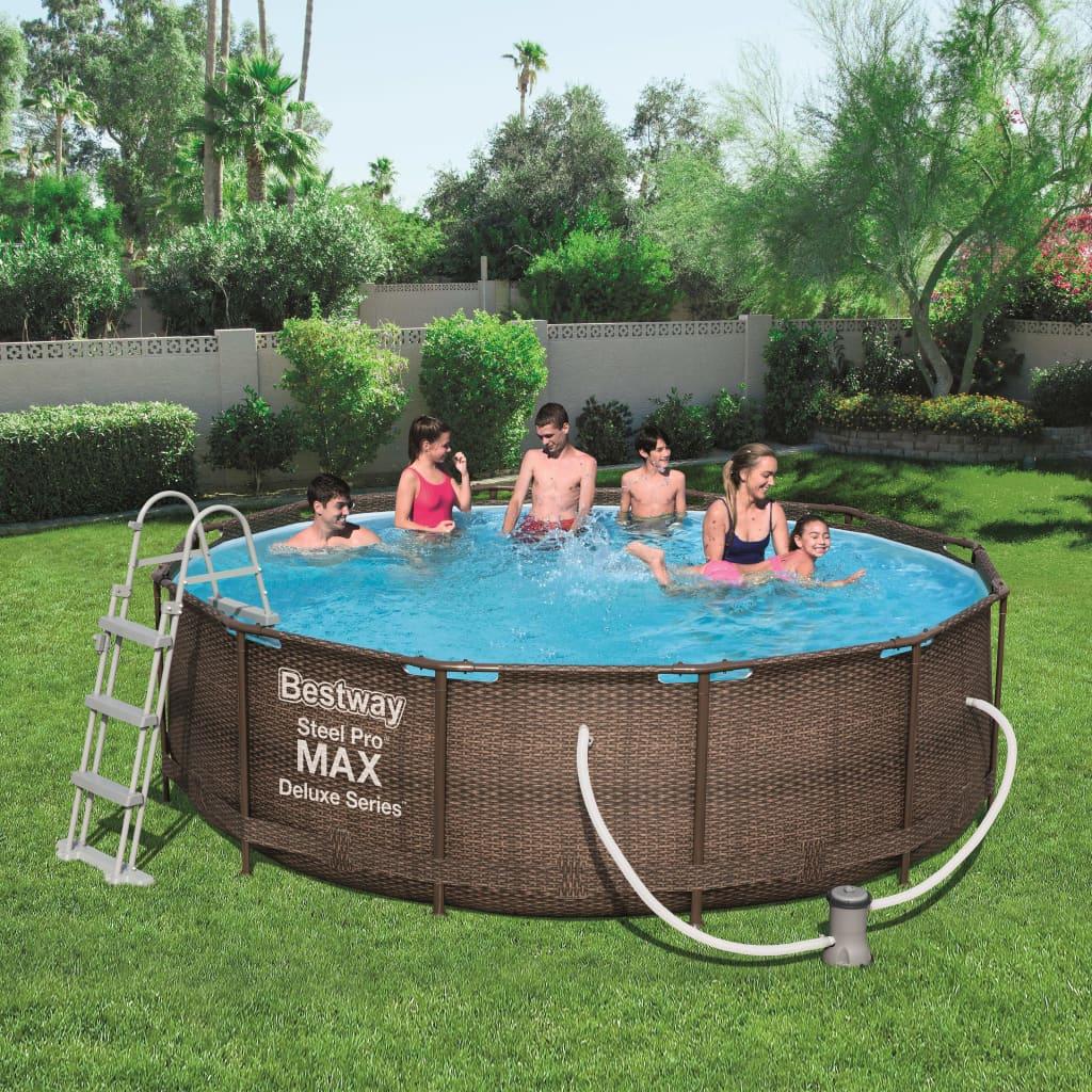 Bestway Steel Pro MAX zwembadset Deluxe Series rond 56709 kopen doe je hier met voordeel Zwembaden