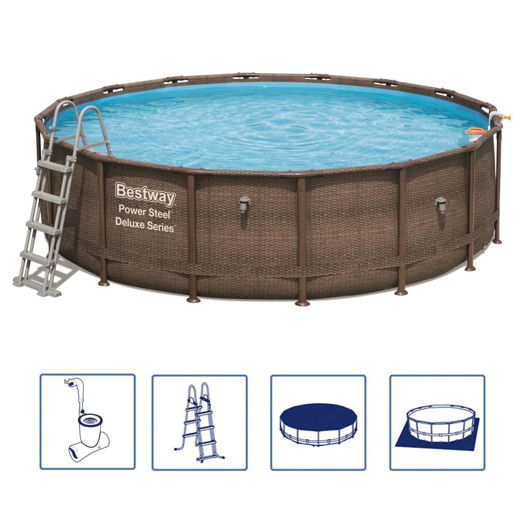 Afbeelding van Bestway Power Steel Zwembadset Deluxe Series rond 56666