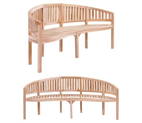 "vidaXL Banana Bench 78.7"" Solid Teak"