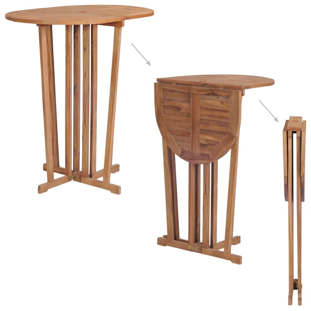 vidaXL Masă de bar pliabilă, 100 x 65 x 105 cm, lemn masiv de tec vidaxl.ro