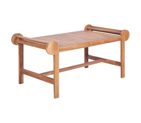 vidaXL Tavolino da Salotto in Legno Massiccio di Teak, 100 x