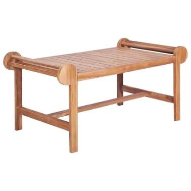 vidaXL Kavos staliukas 100x50x45 cm, tikmedžio med. masyv.[1/7]