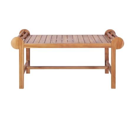 vidaXL Kavos staliukas 100x50x45 cm, tikmedžio med. masyv.[2/7]